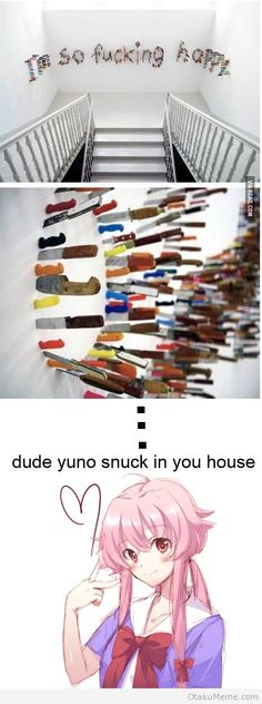 Otaku Meme » Anime and Cosplay Memes! » Yuno's Knifes
