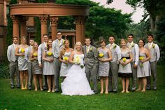 grey and yellow wedding colors Photos by Sarah Lynn Photography https://www.facebook.com/pages/Sarah-Lynn-Photography/218643848149894