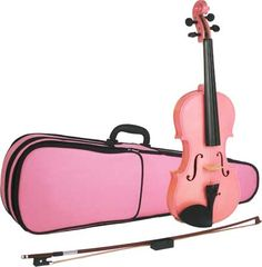 Pink Violin And Carrying Case