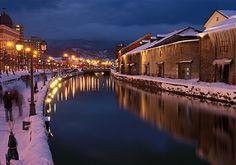 Sapporo's Otaru Canal in Winter, Hokkaido, Japan Snow In Japan, Winter In Japan, Otaru, Sapporo, Travel Tours, Japan Travel, Travel Guide, Hokkaido Winter, Snow Light