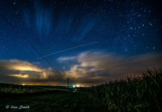 International Space Station seen last night from Bryant, Iowa. Photo credit: Lisa Smith