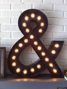 Pin for Later: DIY Decor Projects Worth Tackling in 2016 This DIY marquee light only looks like it cost hundreds. Source: Happy Looks Good on You Diy Gifts Cheap, Diy Gifts To Make, Easy Diy Gifts, Homemade Gifts, Diy Marquee Letters, Marquee Lights, Marquee Sign, Light Letters, Diy House Projects