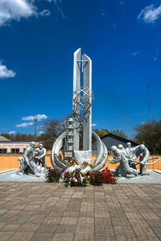 Firefighters Memorial ~ Chernobyl. This a tribute to all those who risked their lives to Battle the nuclear fire in reactor #4