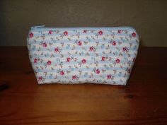 Make up bag Handmade Cosmetic bag cotton fabric Uk by KernowClaire,