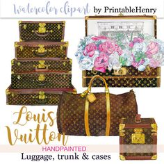 Instant download Louis Vuitton clipart by PrintableHenry on Etsy