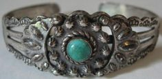 Vintage Navajo Indian Sterling Silver Route 66 Turquoise Cuff Bracelet | eBay