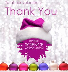 Dec 24 Spreading the joy of science across the UK, our volunteers work tirelessly to engage people through innovative and diverse events.  Thank you to all our volunteers. #science #volunteering #charity