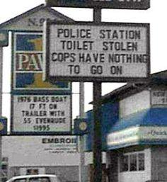 toilet stolen