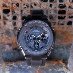 Refined yet rugged. The layered guard structure of G-STEEL never sacrifices toughness for true style. New G Shock, G Shock Mudmaster, G Shock Watches, Casio G Shock, Tactical Gear, Stainless Steel, Men, Design, Style