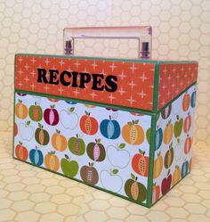 Fall Apple Recipe Box by IzzyAndBelle on Etsy