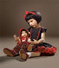 Suchin and Sasha, by Kish & Co. (Helen Kish), This doll won the 2012 DOTY Award in the category of Collectible Manufacturer's Artist Doll.