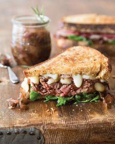 Southern Lady Magazine's Carmelized Onion Marmalade Roast Beef Sandwich with Fig Aioli.
