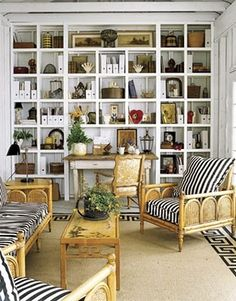 Collected Bookshelves and stripes