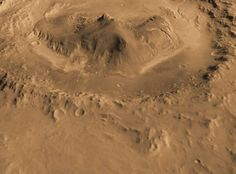 Gale crater on Mars. Image credit: NASA/JPL/CalTech
