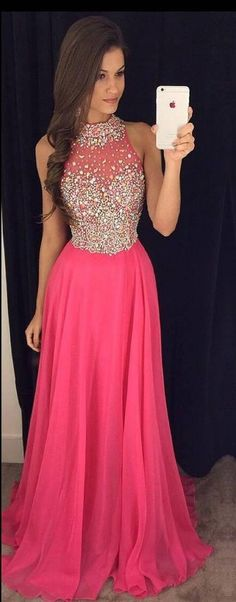 Hot Pink Prom Dress with Top Beading, Prom Dresses,Graduation Party Dresses, Prom Dresses For Teens · BBTrending · Online Store Powered by Storenvy