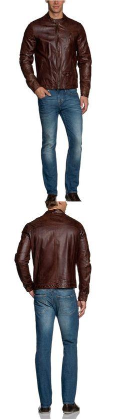 #MensJackets:Scotch & Soda Men's Leather Jacket