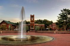 Fountain And Tower at WCU by Greg Mimbs (WNCFineArt.com)