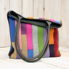Recycled Sweater Bag  Colorful Jewel  Tones by karenmeyers on Etsy, £60.00