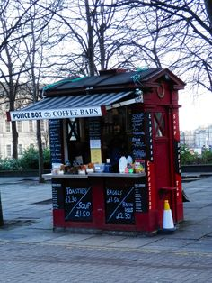 Another police box: a coffe shop!