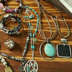 Silpada 13 PIECE LOT!!!! You are purchasing 3 Silpada bracelets, 4 Silpada Necklaces, 3 size 8 rings, and 1 size 9 with 2 disc...buy one item or all. Silpada  Jewelry Bracelets
