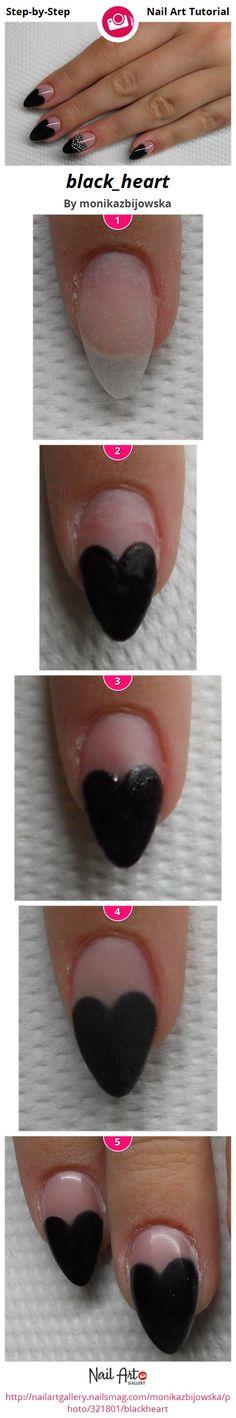 black_heart by monikazbijowska - Nail Art Gallery Step-by-Step Tutorials nailartgallery.nailsmag.com by Nails Magazine www.nailsmag.com #nailart