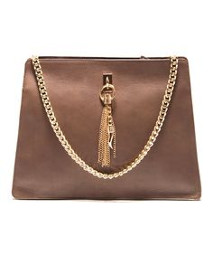 Loving this Roberta M Accacia Chain Tassel Leather Tote on #zulily! #zulilyfinds