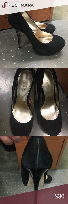 Bakers black suede heels size 8 Bakers black suede heels size 8 Bakers Shoes Heels
