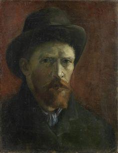 Self-Portrait with Felt Hat, 1886 - 1887, Vincent van Gogh, Van Gogh Museum, Amsterdam (Vincent van Gogh Foundation)