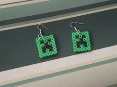Minecraft Creeper Perler Bead Earrings on Wanelo