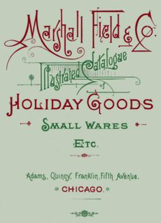 Marshall Fields - Holiday ad