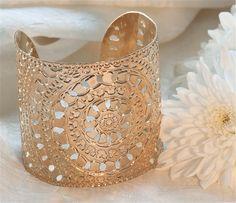 Rose Gold cuff circles moroccan henna design