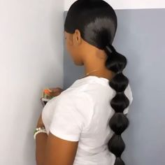 Gamay Hair Virgin Hair Silky Straight 360 Lace Frontal Wigs Human Hair Wigs for . - Gamay Hair Virgin Hair Silky Straight 360 Lace Frontal Wigs Human Hair Wigs for Black Women Gamay H - Box Braids Hairstyles, Baddie Hairstyles, Straight Hairstyles, Hairstyle Ideas, Hair Ponytail Styles, Sleek Ponytail, Curly Hair Styles, Birthday Hairstyles, Bubble Ponytail
