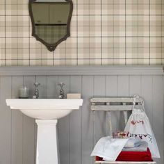 Plaid Bad Wohnideen Badezimmer Living Ideas Bathroom
