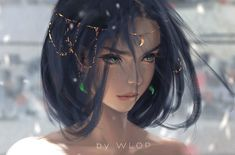DeviantArt - Discover The Largest Online Art Gallery and Community by wlop Art Anime Fille, Anime Art Girl, Anime Girls, Chica Fantasy, Fantasy Girl, Fantasy Princess, Moon Princess, Beautiful Fantasy Art, Beautiful Artwork