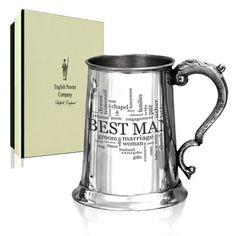 Best Man Tankard  Available from: www.katarinabridal.com katarinabridal@gmail.com