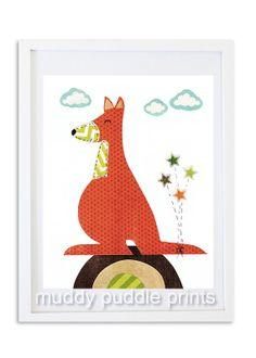 Nursery art print Nursery decor kids room by MuddyPuddlePrints, $14.00