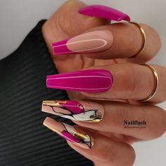 Chic Nails, Glam Nails, Dope Nails, Stylish Nails, Pink Nails, Fabulous Nails, Perfect Nails, Gorgeous Nails, Pretty Nails