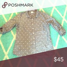 Perfect Polka Dot Chambray No trades, swaps or off-posh transactions, no exceptions! Measurements can be provided upon request. Any item in my closet $10 and under can be bundled for free with any purchase of $10 or more, just ask when purchasing! All bundles save 30%! Please feel free to make an offer so the price is right! Happy poshing! J. Crew Tops Button Down Shirts