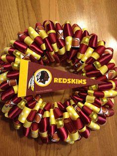 Washington Redskins Ribbon Wreath…@Briana Luff help me with thisss :) please!