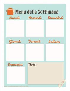 menu settimanale stampabile free