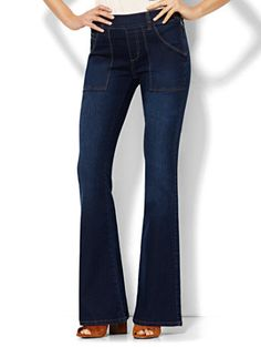 Shop Soho Jeans - High-Waist Flare - Highland Blue Wash . Find your perfect size online at the best price at New York & Company.