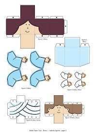 My Little House: Bible Paper Toys - Book 1 - Nativity Figures