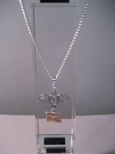 Harry Potter Inspired Hedwig Necklace by SilverThornCharms on Etsy, $10.00