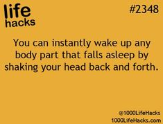 Gonna have to try it next time my foot falls asleep