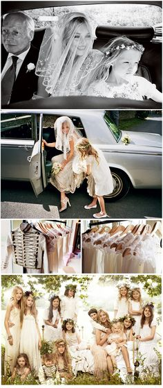 Absolutely LOVE the photography of this wedding. Ok, and its Kate Moss,so of course its going to be beautiful!
