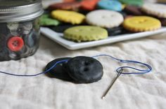 Coraline Button Cookies