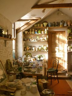Prue Piper's studio in The Old Laundry Somerset