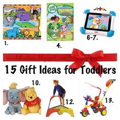 15 Gift Ideas for Toddlers #Christmas #Birthday