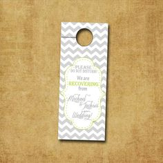 Chevron Frame PRINTABLE Door Hanger by Wedinfinity on Etsy, $6.00