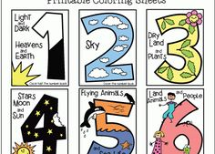 Coloring Page: Useful 7 Days Of Creation Pictures Seven Early Childhood Coloring Sheet For from 7 Days Of Creation Pictures
